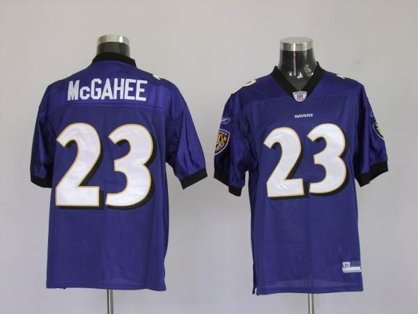 Ravens #23 Willis McGahee Purple Stitched NFL Jersey