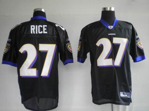 Ravens #27 Ray Rice Black Stitched NFL Jersey