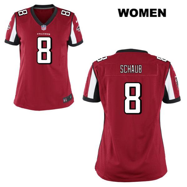 newest 18f5b e4cee Matt Schaub Home Womens Red Atlanta Falcons Stitched Elite ...